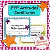 PYP Attitudes Certificates