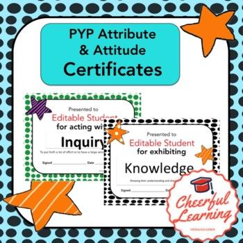 PYP Attributes Certificates