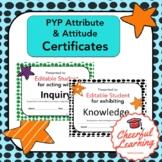 PYP Attitudes and Attributes Certificates