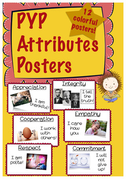 PYP Attributes-Red (IB, International Baccalaureate, Primary Years Program)