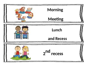PYP Daily Schedule Cards- Editable