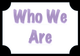 PYP Element Posters - Black Background and Purple/Black Writing Writing
