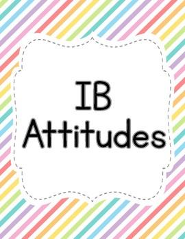 PYP IB Attitudes Posters Freebie - Colorful