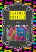 IB PYP Learner Profile display in bright/neon theme