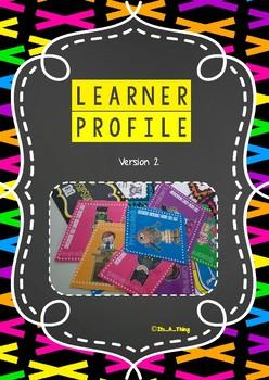 IB PYP Learner Profile display in rainbow theme