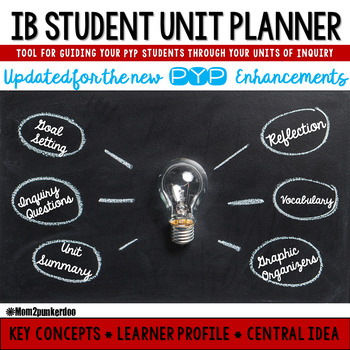 PYP IB Student Unit Planner