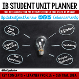PYP IB Student Unit Planner Updated for the Enhancements