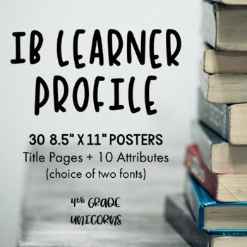 IB PYP Learner Profile Posters / Prints