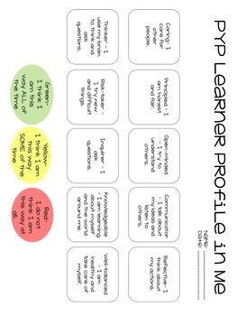 PYP Learner Profile Self Assessment