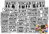 PYP Math Vocabulary Poster