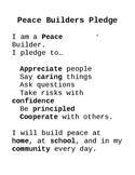 PYP Peace Builders Pledge
