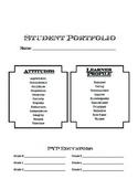 PYP Portfolio Cover Page