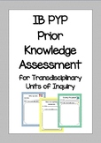PYP Prior Knowledge Assessment