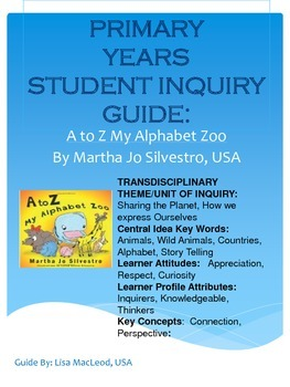 PYP Student Guide for A to Z My Alphabet Zoo