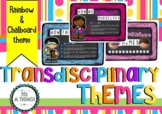 PYP Transdisciplinary themes posters - chalkboard theme
