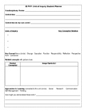 IB PYP Unit Student Planner template