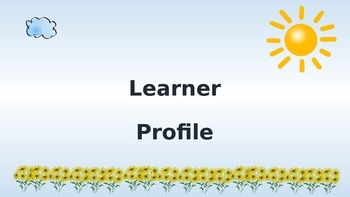 PYP learner profile attributes posters sun and cloud theme
