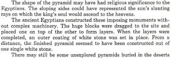 Puzzle on PYRAMIDS: WONDERS OF THE DESERT Info Text Worksheet + Vocabulary