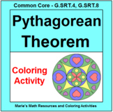 PYTHAGOREAN THEOREM:  COLORING ACTIVITY # 2