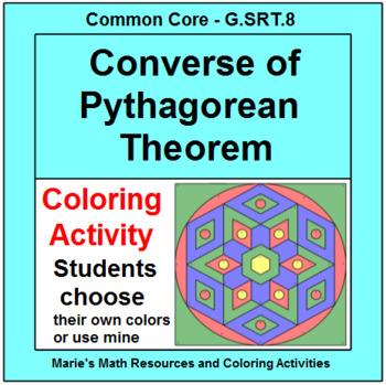 PYTHAGOREAN THEOREM: CONVERSE OF - COLORING ACTIVITY # 2