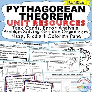 PYTHAGOREAN THEOREM - Error Analysis, Graphic Organizers,
