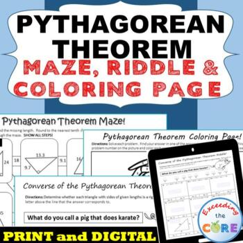 pythagorean theorem maze riddle coloring page fun math activities. Black Bedroom Furniture Sets. Home Design Ideas