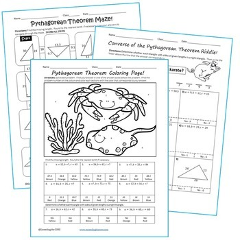 Theorem Maze, Riddle, & Coloring Page (Fun Math Activities)