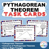 PYTHAGOREAN THEOREM - Task Cards {40 Cards}