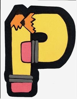 P_ pencil yellow
