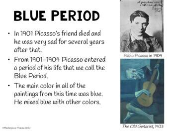 Pablo Picasso- Blue Period Portrait Painting