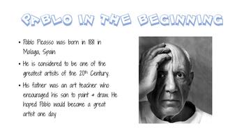 Pablo Picasso Bundle (PPT, Notes, Quiz)
