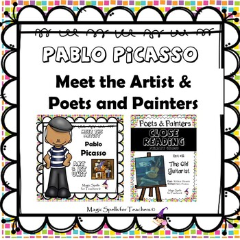 Pablo Picasso - CC Close Reading, Poetry & Art Biography Lit Unit Bundled Set