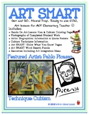 Pablo Picasso & Cubism Art SMART Lesson Plan: Art Activity & Art History