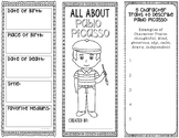 Pablo Picasso - Famous Artist Biography Research Project, Interactive Notebook