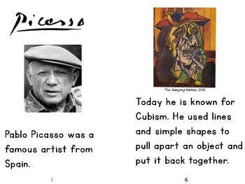 Pablo Picasso Famous Artist Unit-Art Projects and More