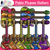 Pablo Picasso Guitar Clip Art | Blue Period Instruments for Cubism Art Lessons