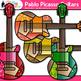 Pablo Picasso Guitar Clip Art | Blue Period Instruments for Cubism Art Lessons