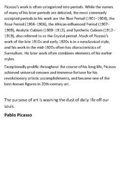 Pablo Picasso Handout