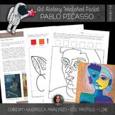 Pablo Picasso Workbook and Art Activities - Cubism - Portrait