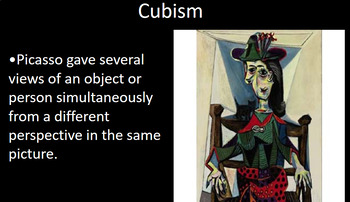 Pablo Picasso PowerPoint and Cubism Activity