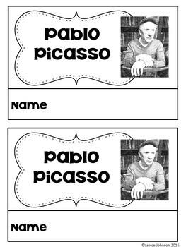 Pablo Picasso Reader Organizer, & Timeline {English Version}