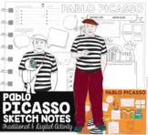 Visual Art Webquest Activity:Pablo Picasso Sketch Notes fo