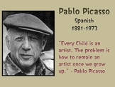 Pablo Picasso Slideshow and Word Search