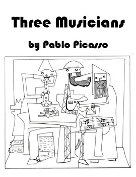 Pablo Picasso - Three Musicians Coloring Page