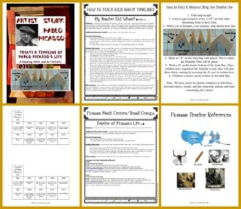 Pablo Picasso Timeline by IDEAS for Teaching | Teachers Pay Teachers
