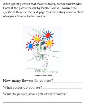 Pablo Picasso's Mother's Day Story Writing Project