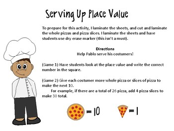 Pablo's Place Value Pizzeria