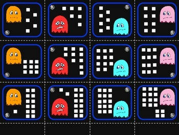 Pac Man Comparing Game - Greater Than, Less Than - DUAL Language Friendly