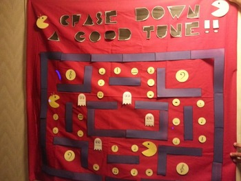 Pac Man Themed Music Bulletin Board: Chase Down a Good Tune