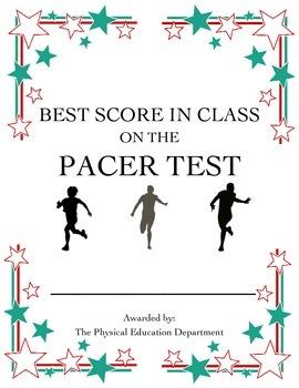 Pacer Fitnessgram Certificate - Best in Class!